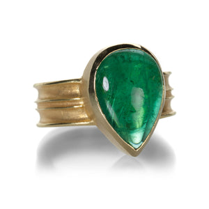 Barbara Heinrich Pear  Shaped Emerald Ring | Quadrum Gallery