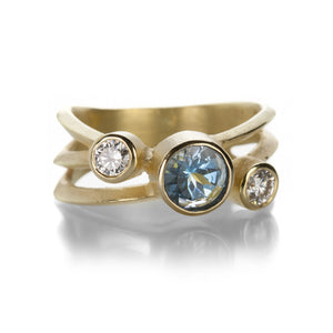 Barbara Heinrich Aquamarine Three Stone Ring | Quadrum Gallery