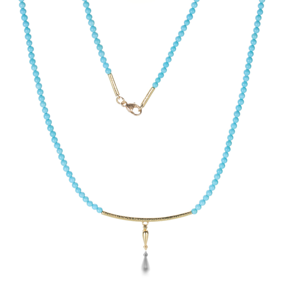 Barbara Heinrich Turquoise and Gold Bar Necklace | Quadrum Gallery