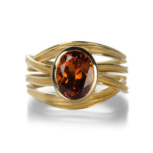 Oval Cognac Garnet Ring