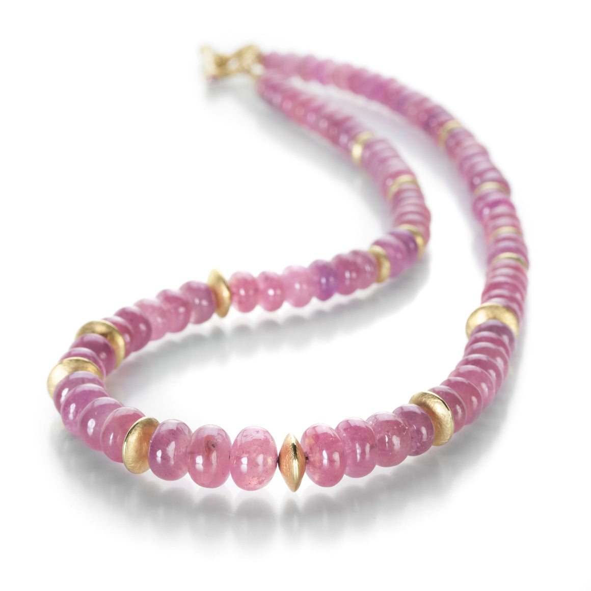 Barbara Heinrich Smooth Pink Sapphire Beaded Necklace | Quadrum Gallery