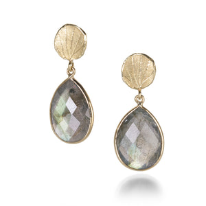 Barbara Heinrich Labradorite Earrings with Petal Tops | Quadrum Gallery