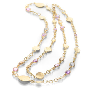 Barbara Heinrich Multi Color Sapphire Chain Necklace | Quadrum Gallery