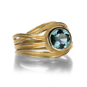 Barbara Heinrich Blue Green Tourmaline Ribbon Ring | Quadrum Gallery