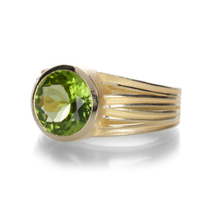 Barbara Heinrich Round Peridot Ribbon Ring | Quadrum Gallery