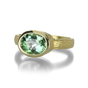 Barbara Heinrich Oval Light Green Tourmaline Ring | Quadrum Gallery