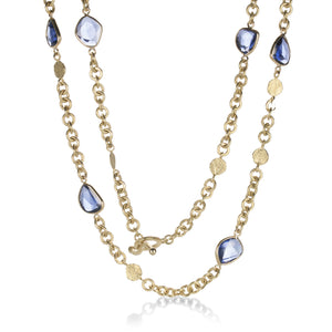 Barbara Heinrich Rose Cut Blue Sapphire Necklace | Quadrum Gallery