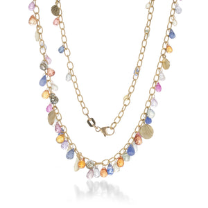Barbara Heinrich Multicolored Sapphire Briolette Necklace | Quadrum Gallery