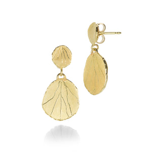 Barbara Heinrich Double Hydrangea Petal Drop Earrings | Quadrum Gallery