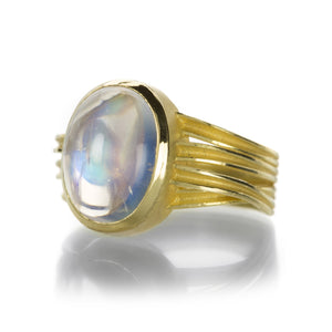Barbara Heinrich Smooth Oval Moonstone Ring | Quadrum Gallery
