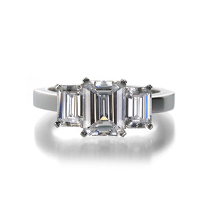 Edward Burrowes Triple Emerald Cut Setting | Quadrum Gallery