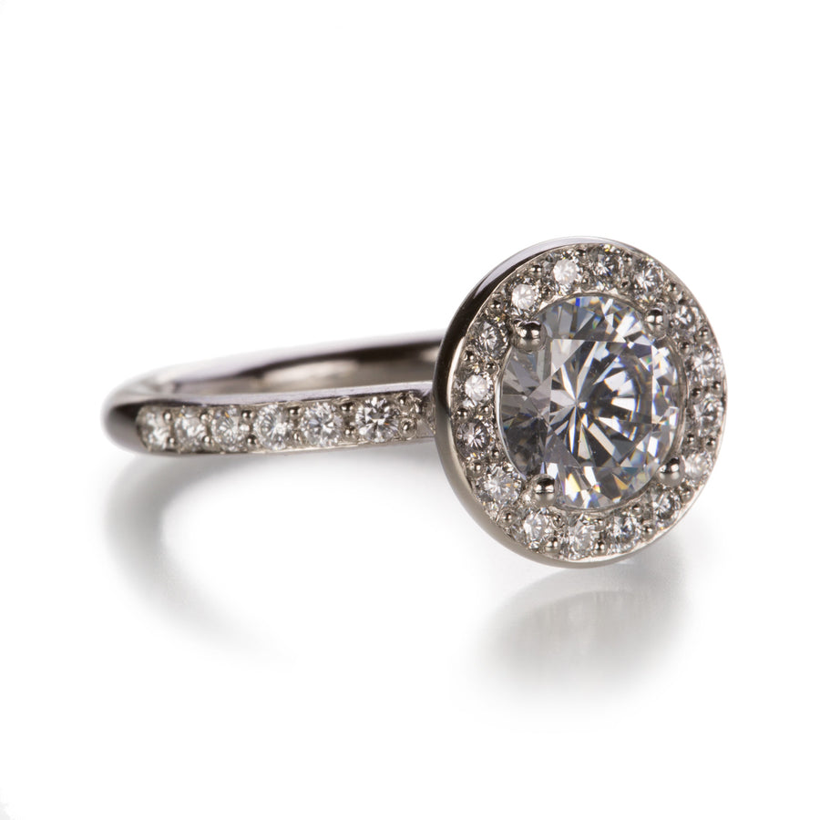 Edward Burrowes Diamond Halo Ring | Quadrum Gallery