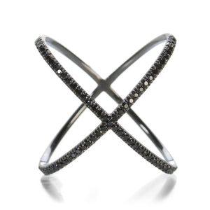 Eva Fehren Black Diamond X Ring | Quadrum Gallery