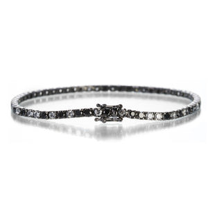 Eva Fehren Black and White Diamond Tennis Bracelet | Quadrum Gallery
