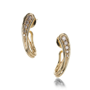 Fernando Jorge Fluid Diamonds Side Earrings | Quadrum Gallery