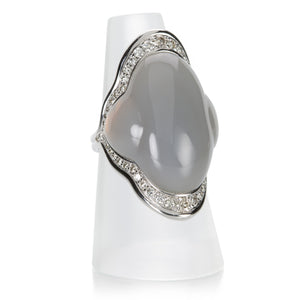 Fernando Jorge Carved Gray Chalcedony Fluid Ring  | Quadrum Gallery