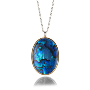 Gurhan Oval Cabochon Paua Shell Necklace | Quadrum Gallery