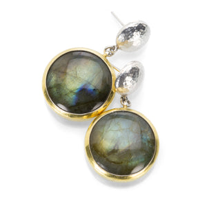 Gurhan One of a Kind Round Labradorite Earrings | Quadrum Gallery