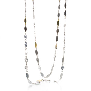Gurhan Tri Color Willow Flake Necklace | Quadrum Gallery