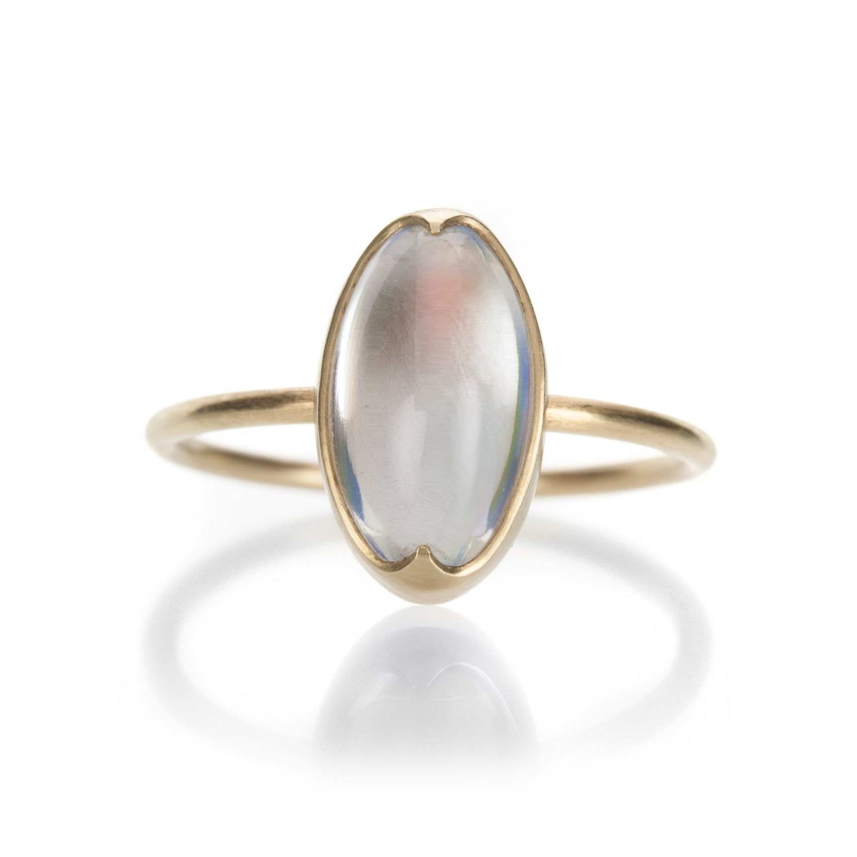 260b7672491e3 Elongated Oval Rainbow Moonstone Ring