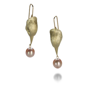 Gabriella Kiss Bird Head with Pearl Earrings | Quadrum Gallery