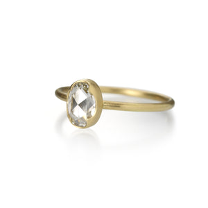 Gabriella Kiss Oval White Rose Cut Diamond Ring | Quadrum Gallery