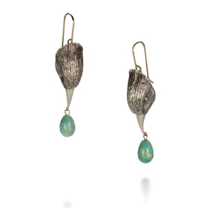 Gabriella Kiss Bird Head with Turquoise Earrings | Quadrum Gallery