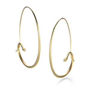 Gabriella Kiss Large Snake Hoops | Quadrum Gallery