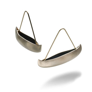Gabriella Kiss Silver Canoe Earrings | Quadrum Gallery