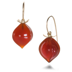 Gabriella Kiss Carnelian Hickory Nut Earrings | Quadrum Gallery