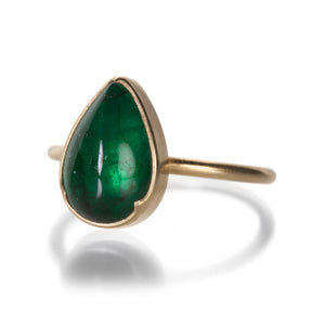 Gabriella Kiss Pear Emerald Ring | Quadrum Gallery