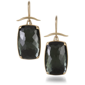 Gabriella Kiss Lemon Quartz and Hematite Earrings | Quadrum Gallery