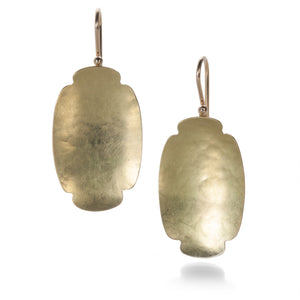 Gabriella Kiss Medium Oval Hammered Scallop Earrings | Quadrum Gallery
