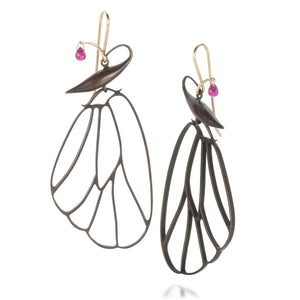 Gabriella Kiss Butterfly Cell Earrings with Ruby | Quadrum Gallery