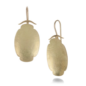 Gabriella Kiss Medium Oval Scallop Earrings | Quadrum Gallery