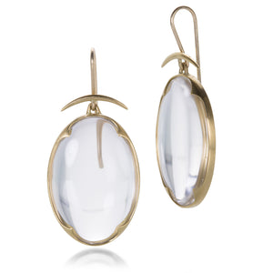 Gabriella Kiss Clear Quartz Lens Earrings | Quadrum Gallery