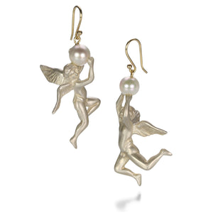 Gabriella Kiss Angel with Pearl Earrings | Quadrum Gallery