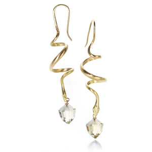 Gabriella Kiss Spiral Snakes with Citrine Earrings | Quadrum Gallery