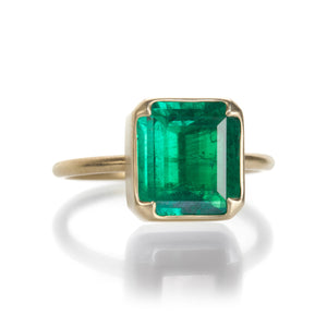 Gabriella Kiss Large Colombian Emerald Ring | Quadrum Gallery