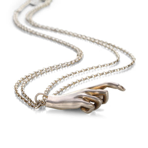 Gabriella Kiss Sterling Silver Pope's Hand Necklace | Quadrum Gallery