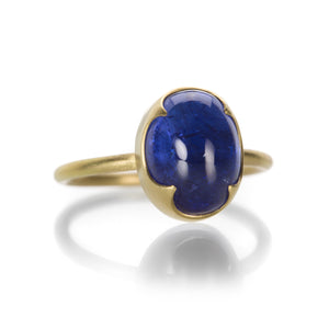 Gabriella Kiss Oval Tanzanite Cabochon Ring | Quadrum Gallery