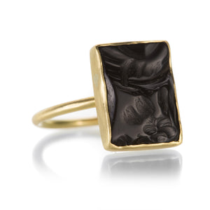Gabriella Kiss Chiseled Black Onyx Ring | Quadrum Gallery