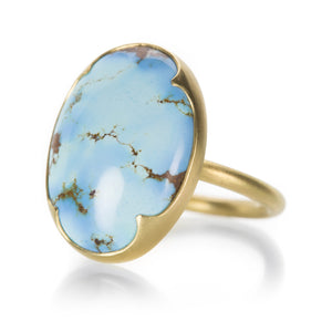 Gabriella Kiss Large Oval Kazakhstan Turquoise Ring | Quadrum Gallery