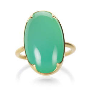 Gabriella Kiss Oval Chrysoprase Ring | Quadrum Gallery