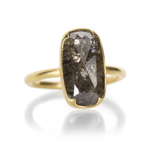 Gabriella Kiss Long Black Lacy Diamond Ring | Quadrum Gallery