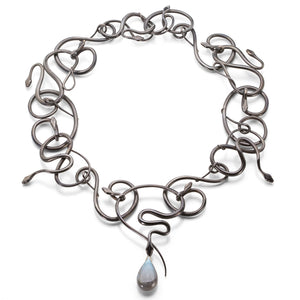 Gabriella Kiss Snake Necklace with Labradorite Drop | Quadrum Gallery