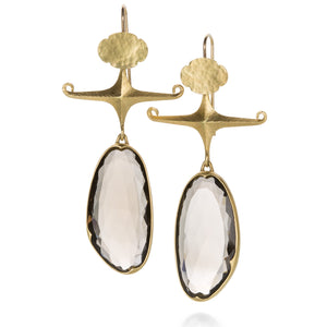 Gabriella Kiss Smoky Quartz Dancing Lady Earrings | Quadrum Gallery
