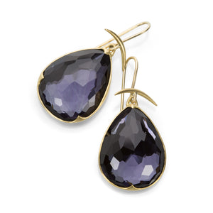 Gabriella Kiss Amethyst over Hematite Earrings | Quadrum Gallery