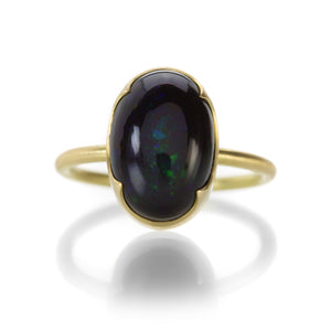 Gabriella Kiss Oval Black Opal Ring | Quadrum Gallery