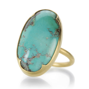 Gabriella Kiss Large Persian Turquoise Ring | Quadrum Gallery